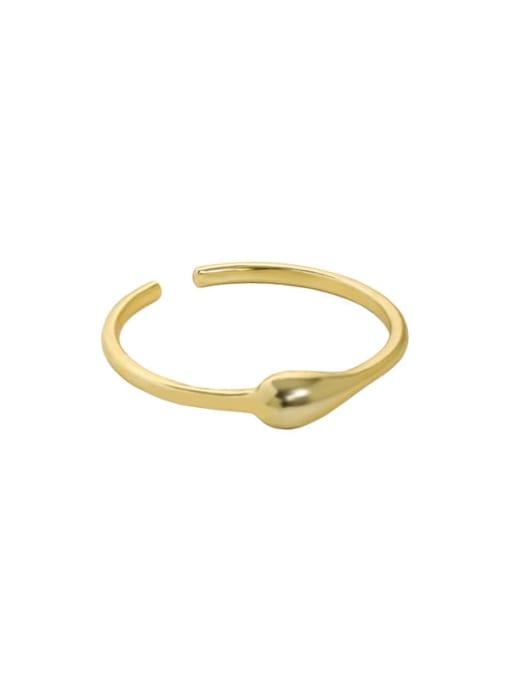 18K gold [13 adjustable] 925 Sterling Silver Heart Minimalist Band Ring